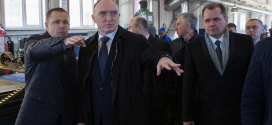 Артем Артемьев принял у себя на предприятии Губернатора области Бориса Дубровского.